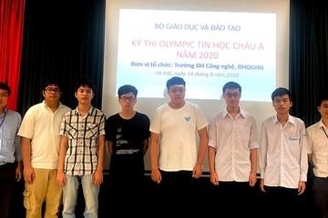 Cả 6 học sinh Việt Nam cùng giành huy chương Olympic Tin học Châu Á