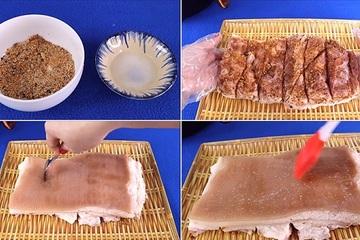 Mẹo làm thịt quay thơm ngon, giòn bì bằng nồi chiên không dầu
