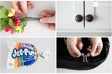 10 mẹo vặt gia đình cực hay sử dụng dây rút nhựa