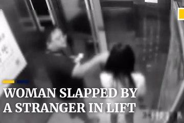 Người đàn ông hành hung phụ nữ vì không bấm hộ thang máy