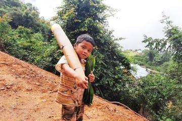 Chú bé vác măng, người phụ nữ nghèo nuôi 8 con góp rau quả chống dịch