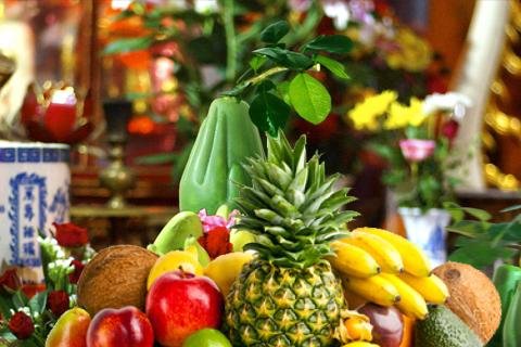 hoa quả thắp hương ngày rằm tháng 7
