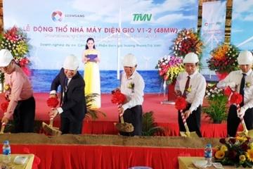 Trà Vinh động thổ nhà máy điện gió V1-2