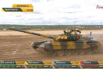 Video màn thi đấu thăng hoa của kíp 2 xe tăng Việt Nam tại Army Games 2020