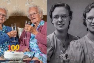 Cặp song sinh lớn tuổi nhất nước Anh tổ chức sinh nhật lần thứ 100