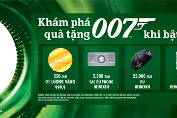 Cơ hội trúng hơn một triệu phần quà hấp dẫn về thế giới mật vụ 007 dành cho người hâm mộ Việt