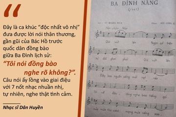 Kỉ niệm 75 năm Cách mạng tháng Tám-Quốc khánh 2/9: Kỷ niệm về ca khúc 'Ba Đình nắng'