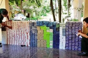 Đồn Biên Phòng Phước Chỉ (Tây Ninh) bắt giữ 6.140 gói thuốc lá nhập lậu