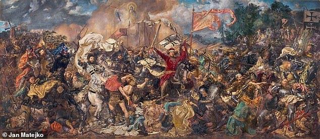 Phát hiện cặp rìu trong trận chiến thời Trung Cổ