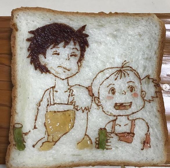 Độc lạ những tác phẩm nghệ thuật đẹp mắt trên lát bánh mì