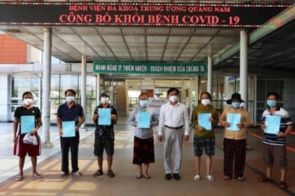 Thêm 13 bệnh nhân mắc Covid-19 ở Quảng Nam được công bố khỏi bệnh