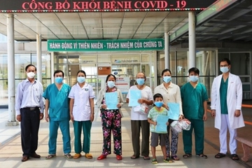 Quảng Nam: 4 ca mắc Covid-19 khỏi bệnh được về nhà trong đó có 2 mẹ con