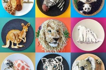 Mê mẩn ngắm nhìn động vật kỳ thú được tạo hình từ đồ ăn