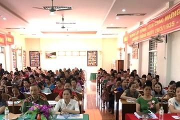 Phụ nữ Sơn La hào hứng tham dự chương trình truyền thông phòng, chống mua bán người