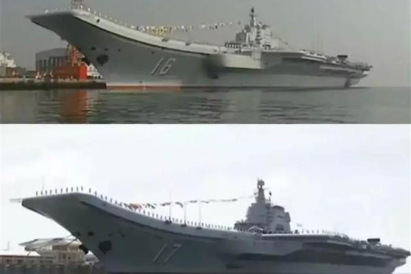 Hai tàu sân bay Trung Quốc lần đầu tiên cùng đi huấn luyện