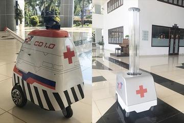 Sản phẩm robot phun xịt, khử khuẩn ngừa Covid-19 Made in Vietnam