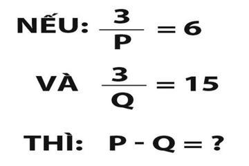 Bài toán cực kỳ 'hại não', bạn tìm ra đáp án trong bao lâu?