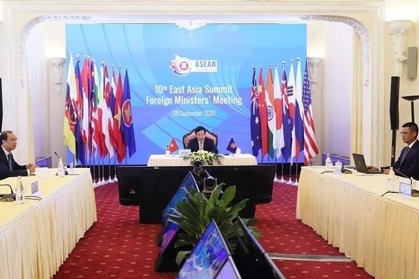 Hội nghị trực tuyến Bộ trưởng Ngoại giao Cấp cao Đông Á lần thứ 10