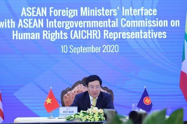 Các Bộ trưởng Ngoại giao ASEAN đối thoại với Ủy ban liên chính phủ ASEAN về nhân quyền