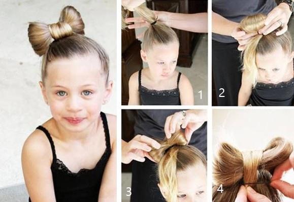 cach tết tóc đẹp cho bé gái