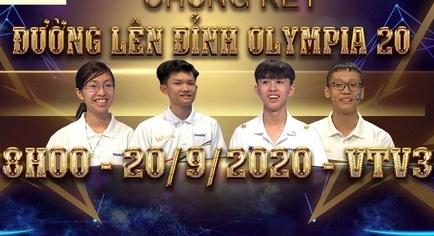 Điểm danh 4 thí sinh vào chung kết Đường lên đỉnh Olympia 2020