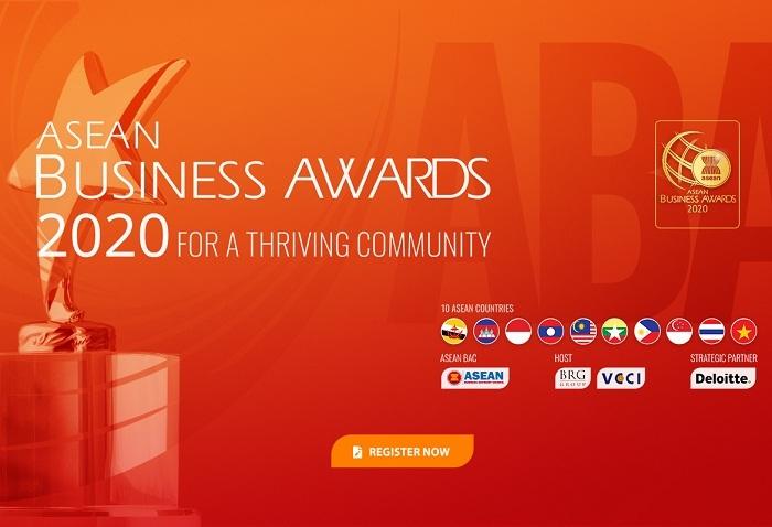 Giải thưởng Doanh nghiệp ASEAN (ABA) 2020 đã chính thức nhận hồ sơ đăng ký