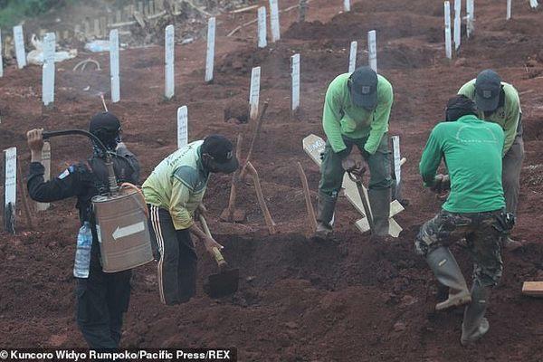 Indonesia: Không đeo khẩu trang bị phạt đi đào mộ ở nghĩa trang