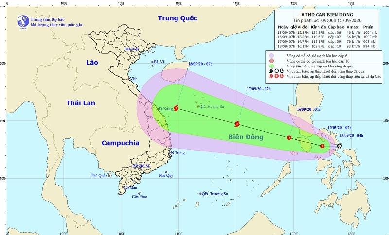 Áp thấp nhiệt đới khả năng mạnh thành bão, hướng vào biển Đông, gió giật cấp 11