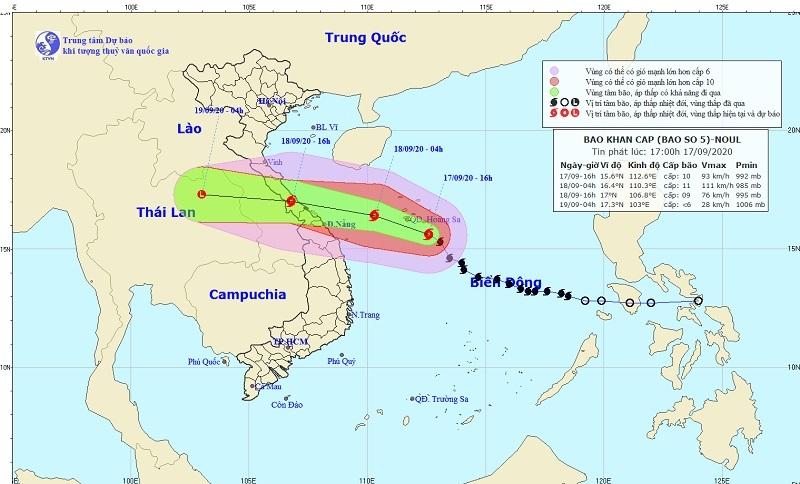 Dự báo thời tiết ngày 18/9: Bão số 5 áp sát ven biển Đà Nẵng, mưa lớn diện rộng