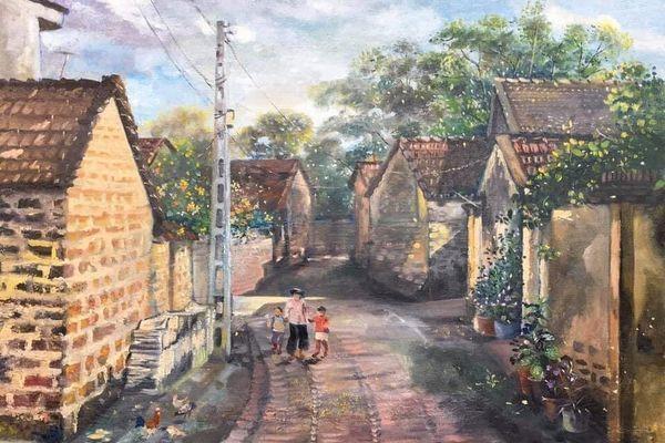 'Hồn quê' trong trẻo qua nét vẽ của người hoạ sĩ tài ba