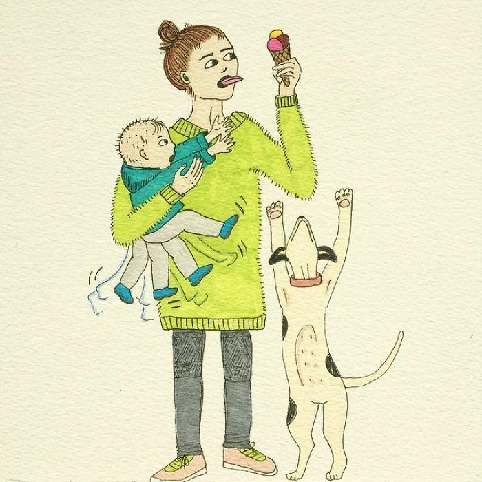 Bộ tranh hài hước về cuộc sống của mẹ bỉm sữa khiến cộng đồng mạng cười ra nước mắt