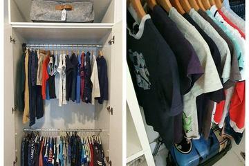 Mẹ 5 con hé lộ bí kíp sắp xếp tủ quần áo gọn gàng ngăn nắp