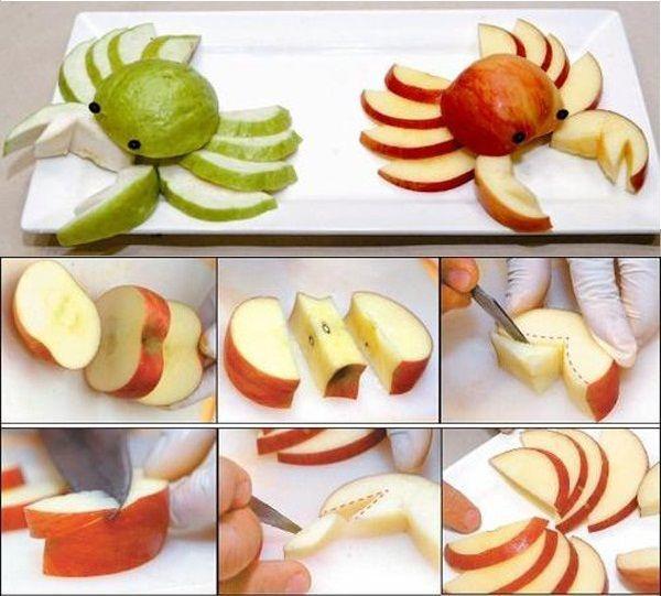cách làm con vật bằng hoa quả 4