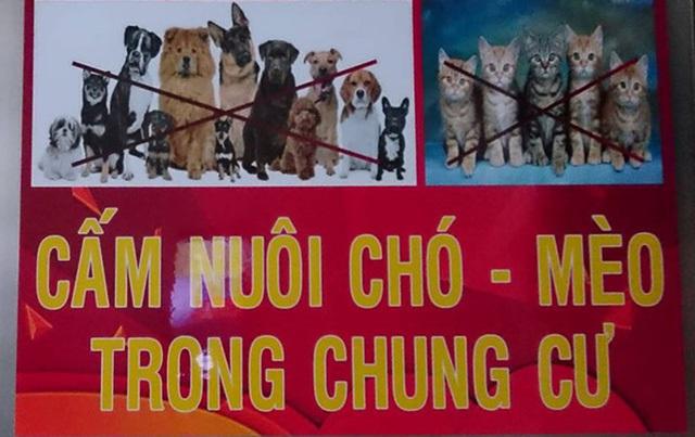 Nhà chung cư,Văn hóa chung cư,Nuôi chó mèo