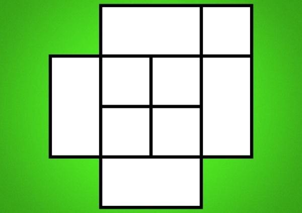 câu đố đếm số hình vuông