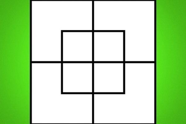 câu đố đếm số hình vuông 1