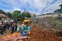 Đắk Nông: Sập bờ kè ở trụ sở Phòng CSGT, công nhân tử vong
