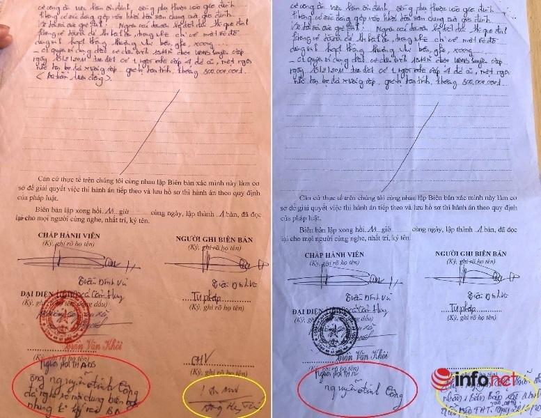 Người thi hành án không ký biên bản, chấp hành viên 'viết tên hộ'