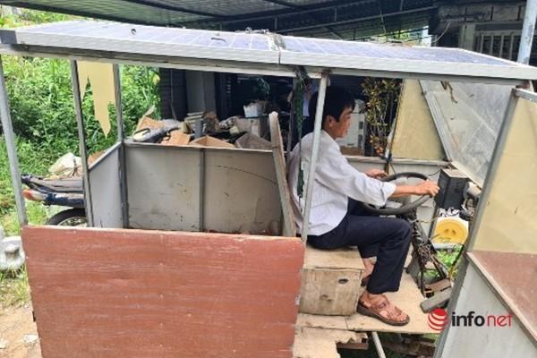 Thầy giáo nghèo chế tạo 'ô tô tải' chỉ 10 triệu đồng để đi chở hàng thuê, chữa bệnh cho con