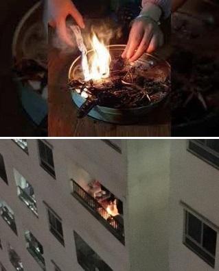 Đốt vàng mã, bịt đầu báo cháy đun nấu, nửa đêm tháo chạy... khiến cả chung cư kinh hoàng