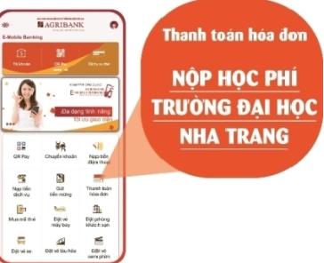 Trường Đại học Nha Trang phối hợp với ngân hàng triển khai thu học phí điện tử