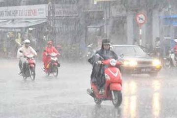 Mưa lớn, lốc xoáy, gió giật mạnh ở nhiều vùng trên cả nước