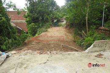 """Đất bị bịt lối vào, xã 'mở đường' từ đồi cao 3m, Trưởng phòng TNMT huyện nói """"con đường thách đố"""""""