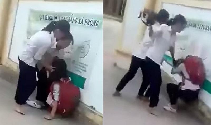 Lại thêm vụ nữ sinh bị đánh hội đồng trước cổng trường