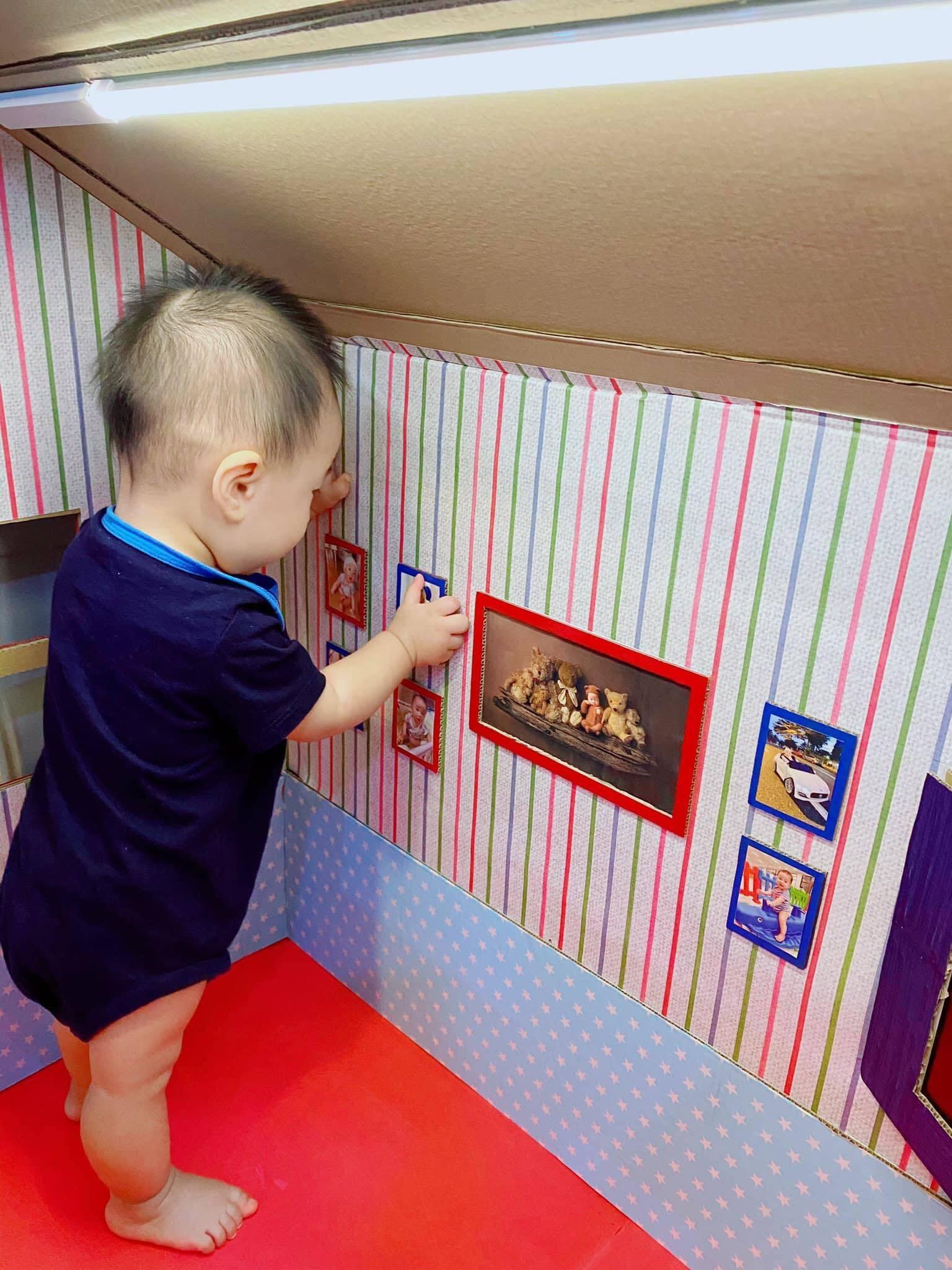 Ông bố kỹ sư làm nhà carton tặng con khiến ai nhìn cũng mê