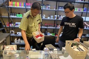 Phát hiện, xử lý cơ sở kinh doanh thuốc lá điện tử nhập lậu