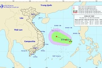 Vùng áp thấp mới trên Biển Đông tiếp tục hướng vào miền Trung