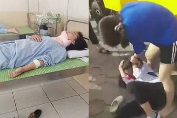 Hà Nội: Xuất hiện clip nữ sinh lớp 8 bị bạn đánh dã man ngoài đường