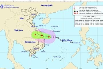 Tin mới nhất về bão số 6: Gió giật cấp 10, hướng vào Quảng Nam - Bình Định