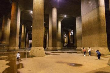 'Ngôi đền dưới lòng đất' bảo vệ Tokyo khỏi cảnh ngập lụt
